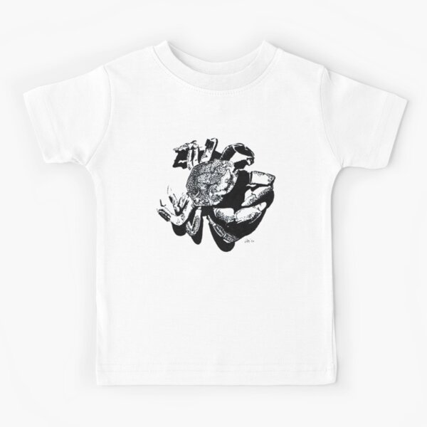 Crab Silhouette - Pen and Ink Art Kids T-Shirt