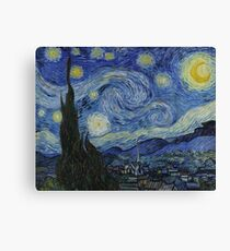 Vincent Van Gogh - Starry Night,  Impressionism .Starry Night, 1889 Canvas Print