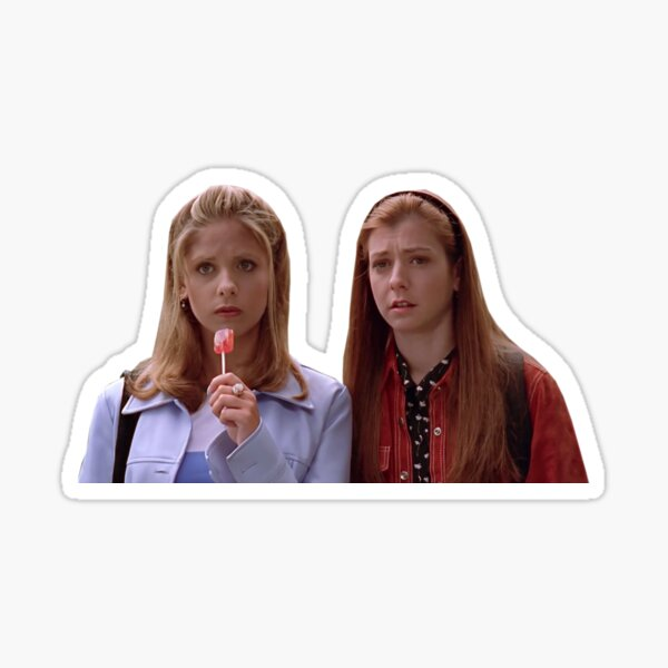 buffy and willow Sticker