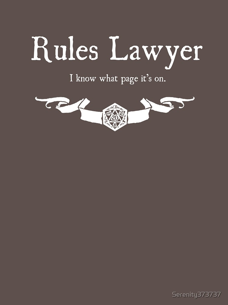DnD Rules Lawyer - for Dark Shirts | Unisex T-Shirt