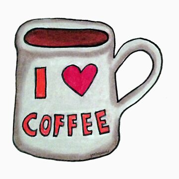 I heart coffee by ArtByHeather