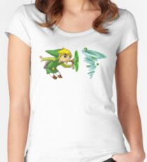 Link wind Women's Fitted Scoop T-Shirt