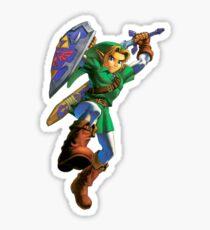 Link jump Sticker