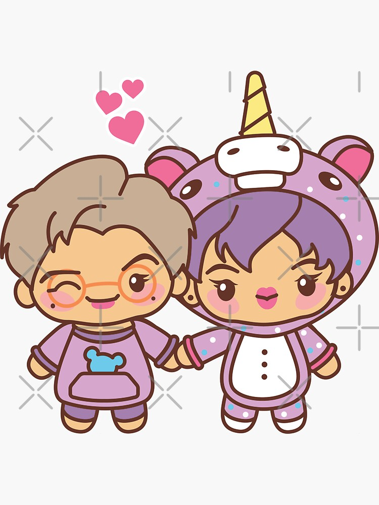 Namjin Pajama Party - BTS Namjoon and Jin in PJ's ~BTS Pajama Party~ by MikaBees