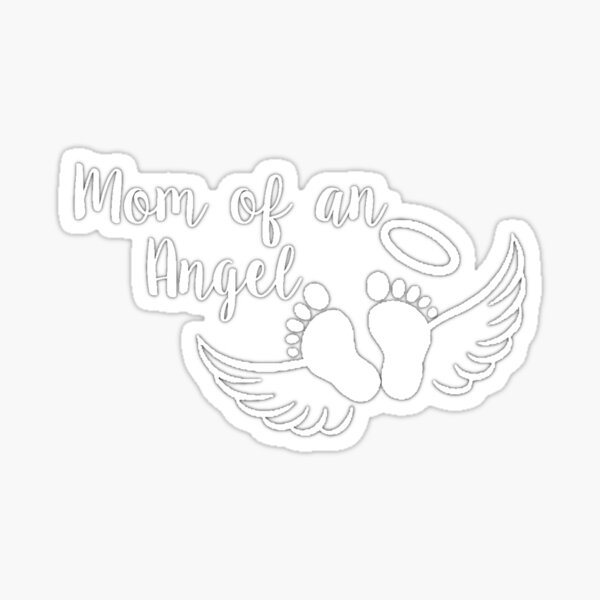 Mom of an Angel Sticker