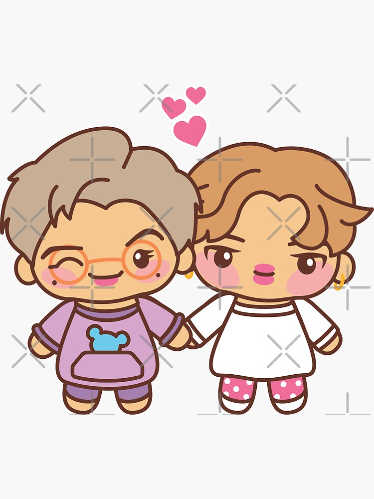 Minjoon Pajama Party - BTS Jimin and Namjoon in PJ's ~BTS Pajama Party~ by MikaBees