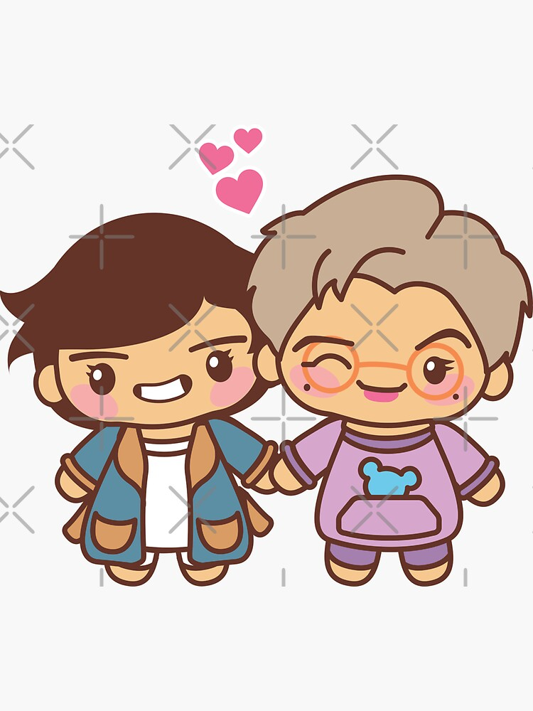 Taejoon / Vmon Pajama Party - BTS Taehyung and Namjoon in PJ's ~BTS Pajama Party~ by MikaBees