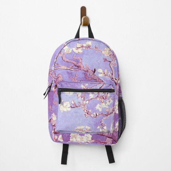 Vincent Van Gogh almond blossoms lavender violet Backpack