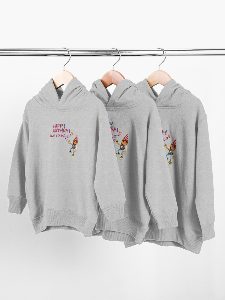 Alternate view of subway surfers Happy Birthday to me Toddler Pullover Hoodie