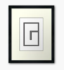 G sign Framed Print