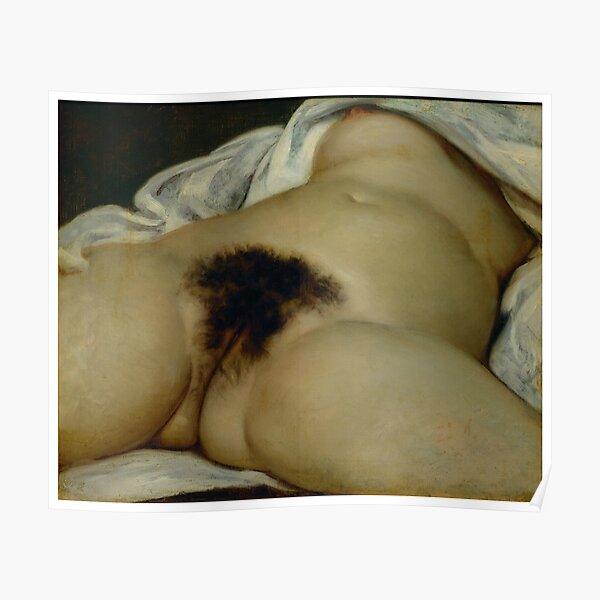 Gustave Courbet l'origine du monde Poster