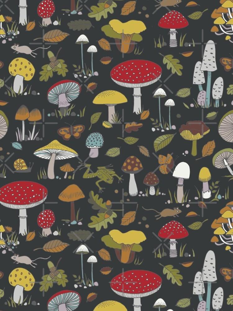 Forest Floor - fun fungus pattern by Cecca Designs by Cecca-Designs