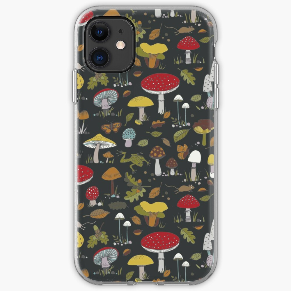 Forest Floor - fun fungus pattern by Cecca Designs iPhone Case & Cover