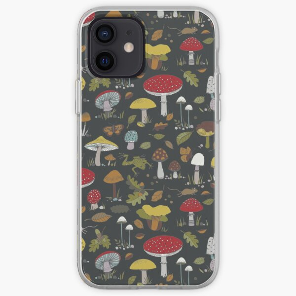 Forest Floor - fun fungus pattern by Cecca Designs iPhone Soft Case