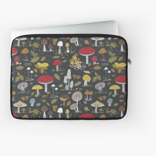 Forest Floor - fun fungus pattern by Cecca Designs Laptop Sleeve