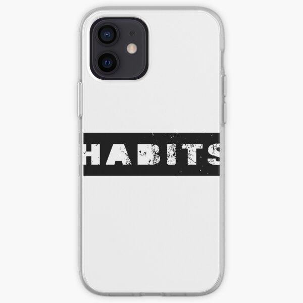 HABITS - simple minimalistic design iPhone Soft Case