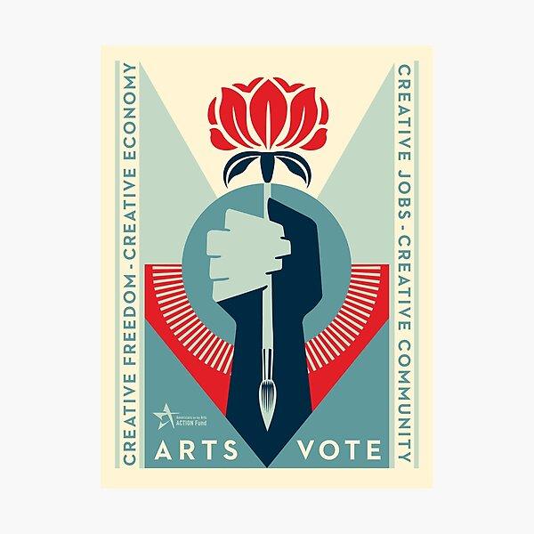 ArtsVote 2020 Logo  - Vertical Photographic Print
