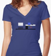 Eames House Abstract Architecture T-shirt Women's Fitted V-Neck T-Shirt