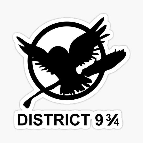 District 9 3/4 Sticker