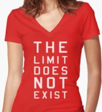 The limit does not exist Women's Fitted V-Neck T-Shirt