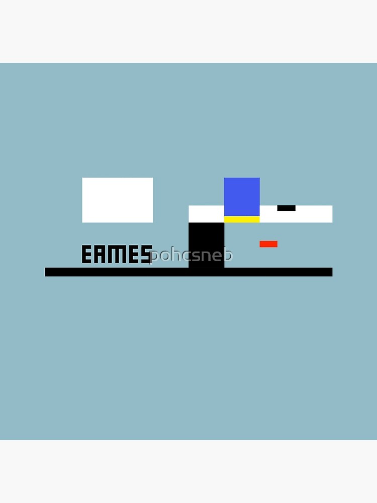 Eames Haus-abstraktes Architektur-T-Shirt von pohcsneb
