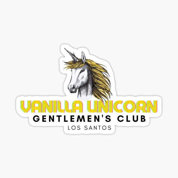 Vanilla Unicorn Gentlemen's Club  Sticker