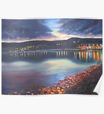 Twilight on Carlingford Lough Poster