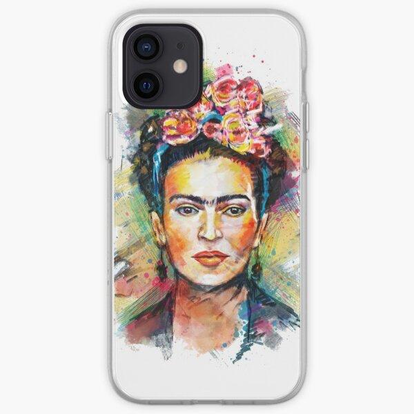 Frida Kahlo colourful portrait  iPhone Soft Case