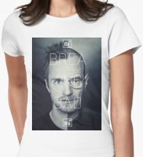 Walt and Jessie - Split Personality. Women's Fitted T-Shirt