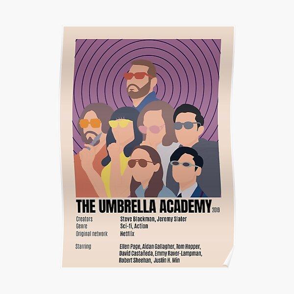 Póster minimalista de Umbrella Academy Póster