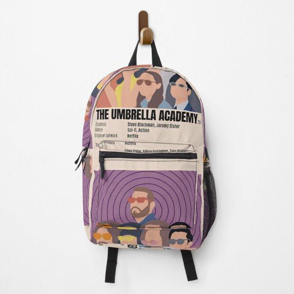 Póster minimalista de Umbrella Academy Mochila