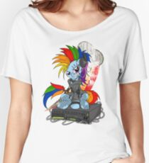 Rainbow PonyROCK Women's Relaxed Fit T-Shirt