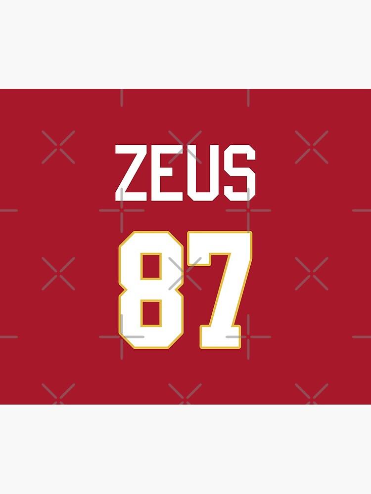 Limited Edition Zeus 87 Jersey Style Shirt, Kansas City Chiefs Shirt, Mug, Hoodie & Wall Tapestry! by GoatGear