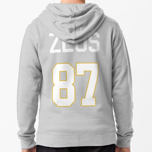 Limited Edition Zeus 87 Jersey Style Shirt, Kansas City Chiefs Shirt, Mug, Hoodie & Wall Tapestry! Zipped Hoodie