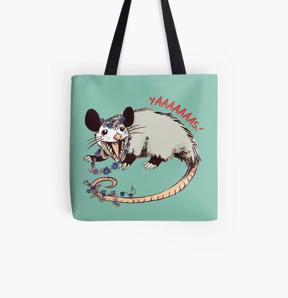 Daisy Chain Opossum Possum Yaaaas! All Over Print Tote Bag