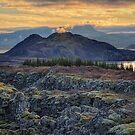 Sunset in Thingvellir by Peter Hammer