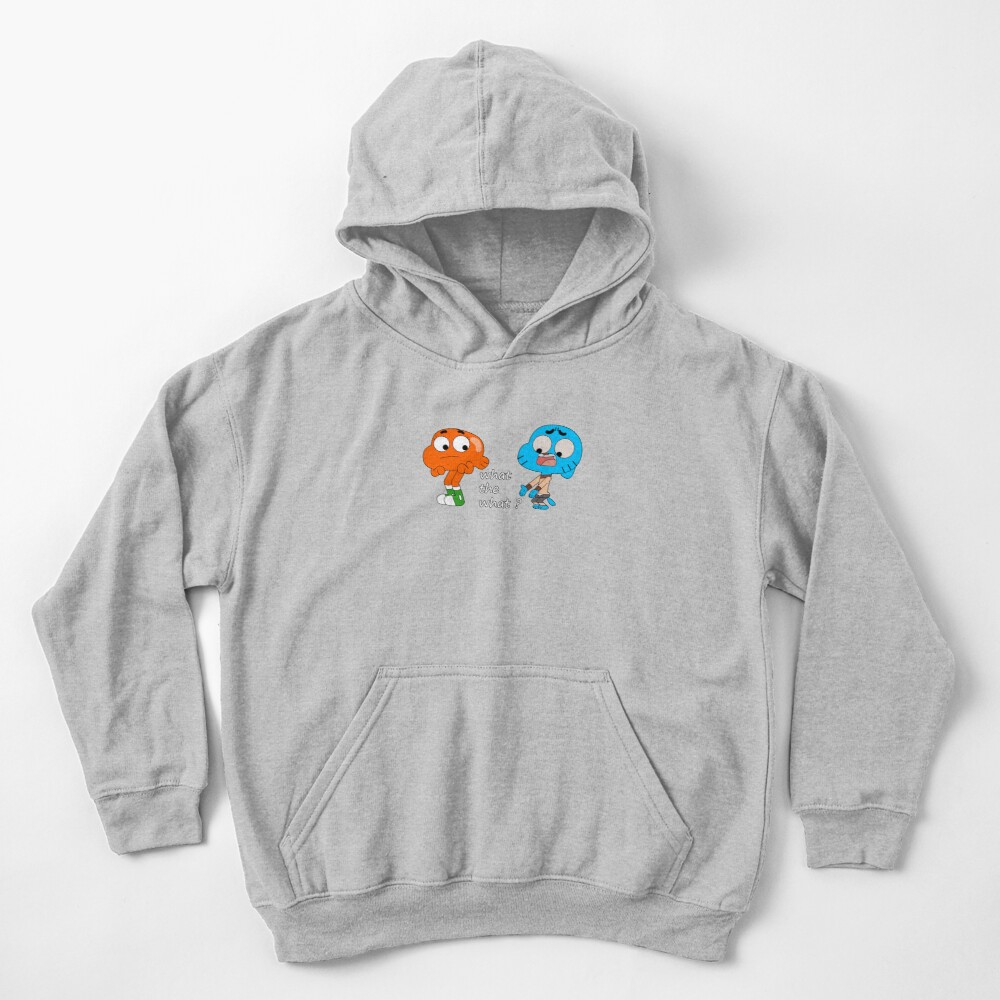 The amazing world of Gumball, Gumball and Darwin, What the what  Kids Pullover Hoodie