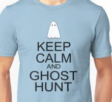 Keep Calm and Ghost Hunt (Black Text) Unisex T-Shirt