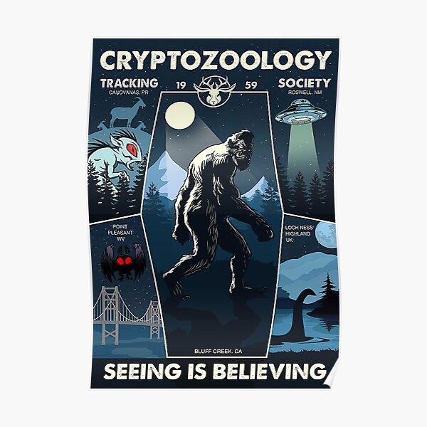 Cryptozoology Tracking Society Bigfoot Poster