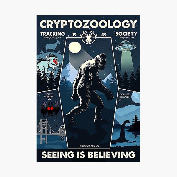 Cryptozoology Tracking Society Bigfoot Photographic Print