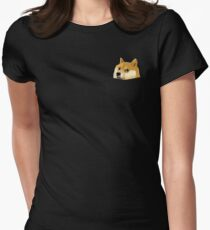 Pocket Doge Women's Fitted T-Shirt