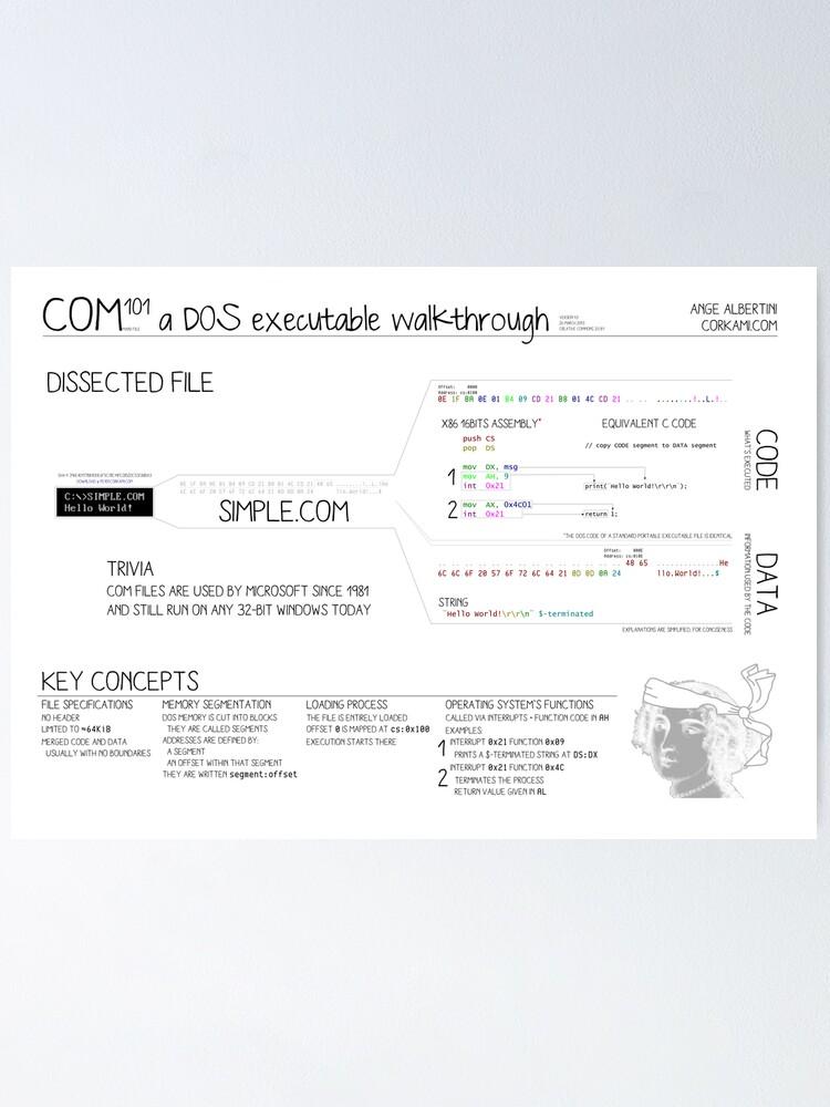 Alternate view of COM101 a DOS executable walkthrough Poster