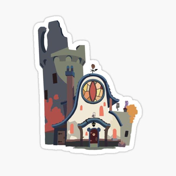 La casa del búho Pegatina