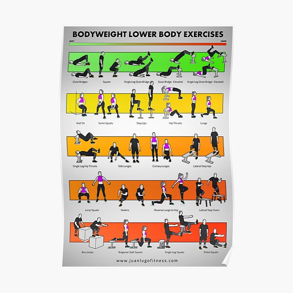 Bodyweight Lower Body Exercises by JLFITNESSMIAMI Poster