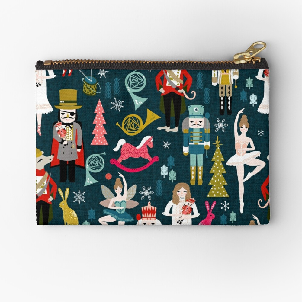 Nutcracker Ballet by Andrea Lauren  Zipper Pouch