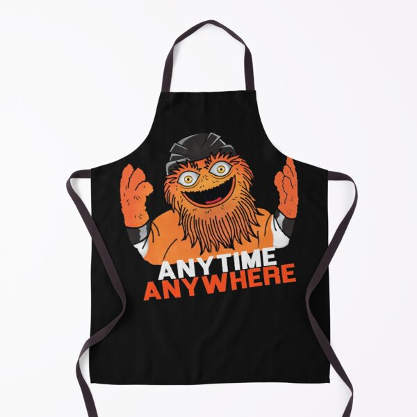 flyers anytime anywhere Gritty philadelphia flyers mascot Philly hockey fans Apron