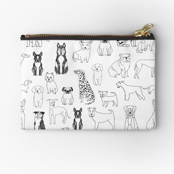 Dogs Dogs Dogs - White background Zipper Pouch