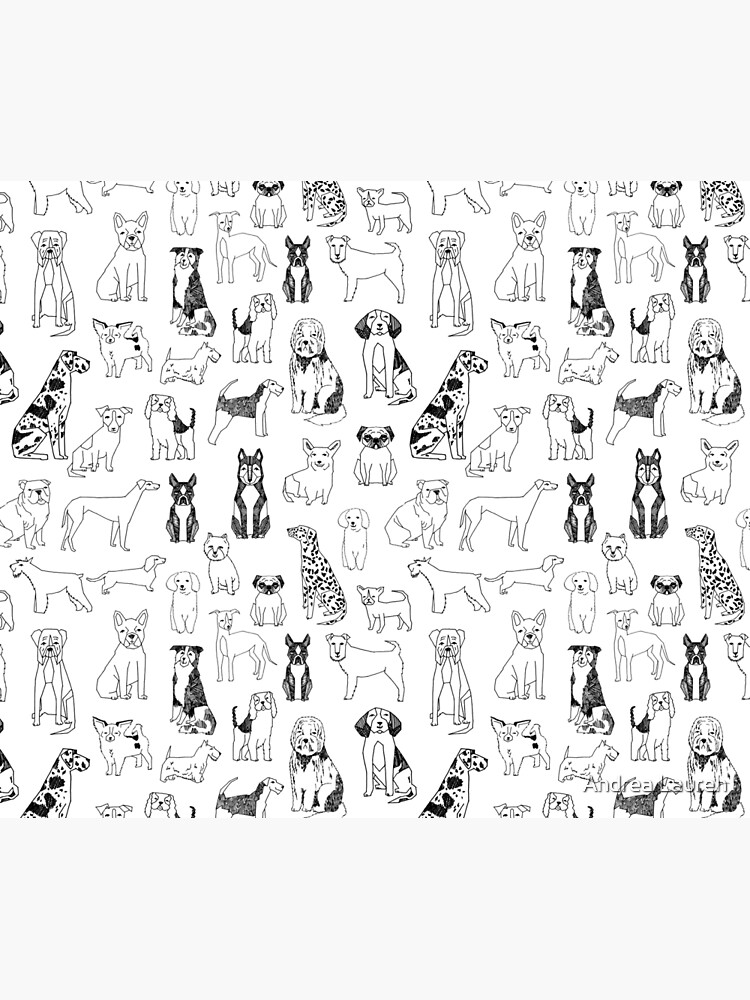 Dogs Dogs Dogs - White background by papersparrow