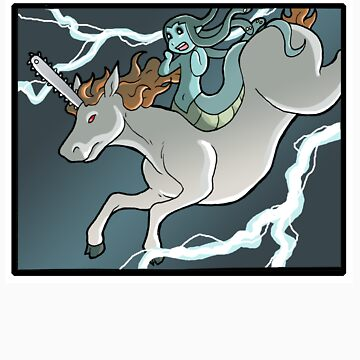 Chainsaw Unicorn and Modest Medusa by JakeRichmond