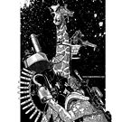 Giraffe Space Pirate by AloftStudios